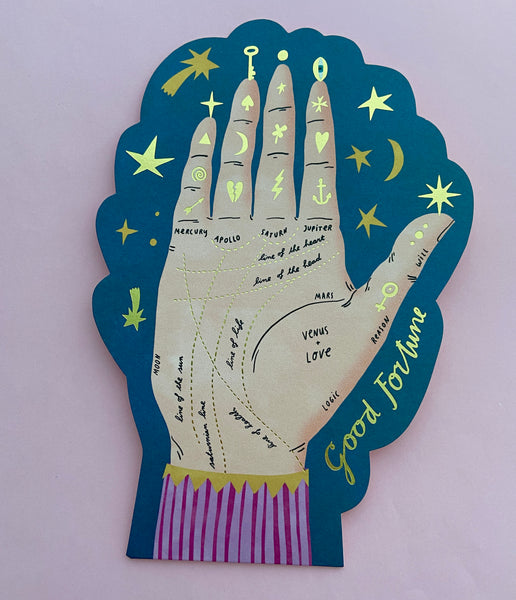 Good Fortune Palmistry Card