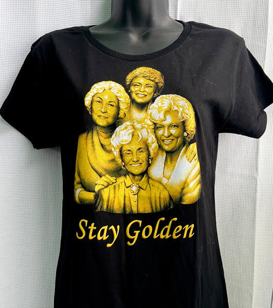Stay Golden Fitted Tee