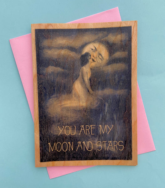 You Are My Moon and Stars Card