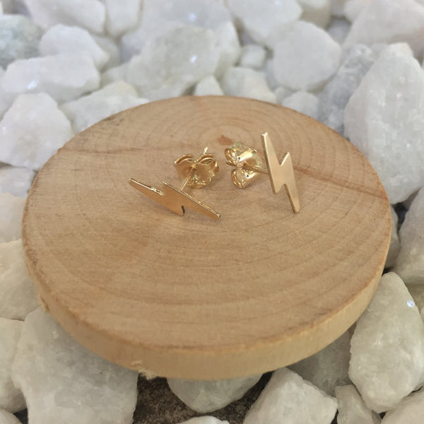 14k gold filled lightning bolt earrings