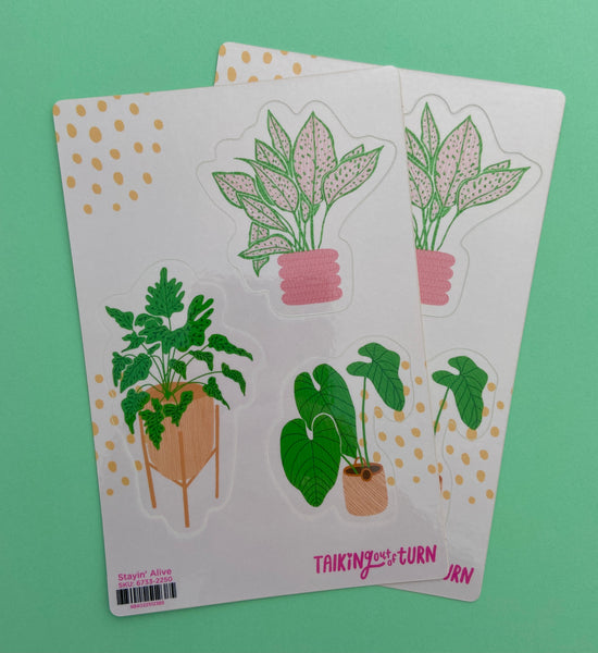 Stayin' Alive Plant Sticker Pack