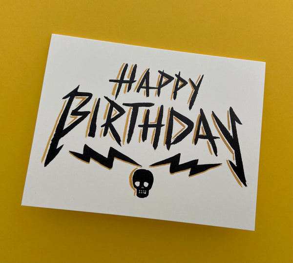 Metal Birthday Card