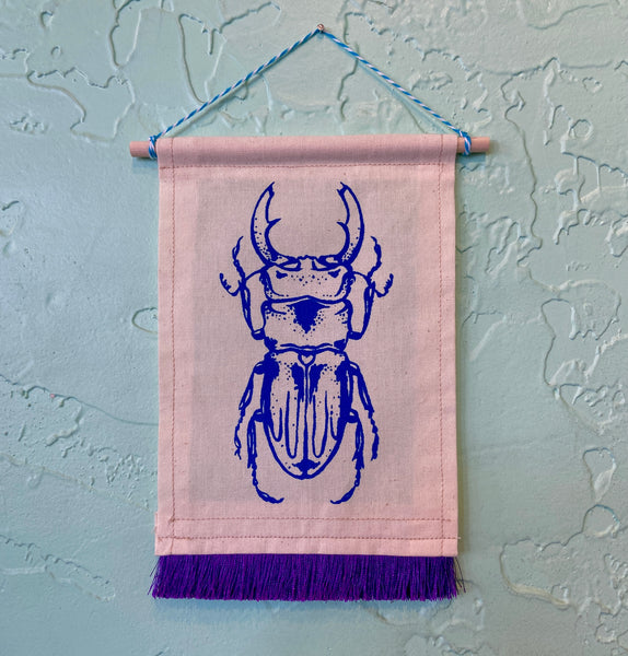 Blue Beetle Wall Hanging