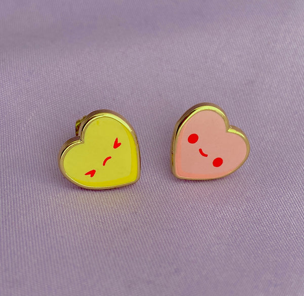 Conversation Heart Post Earrings
