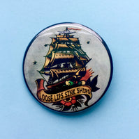 Loose Lips Sink Ships Pin