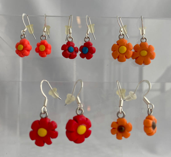 Cutie Pie Flower Drop Earrings