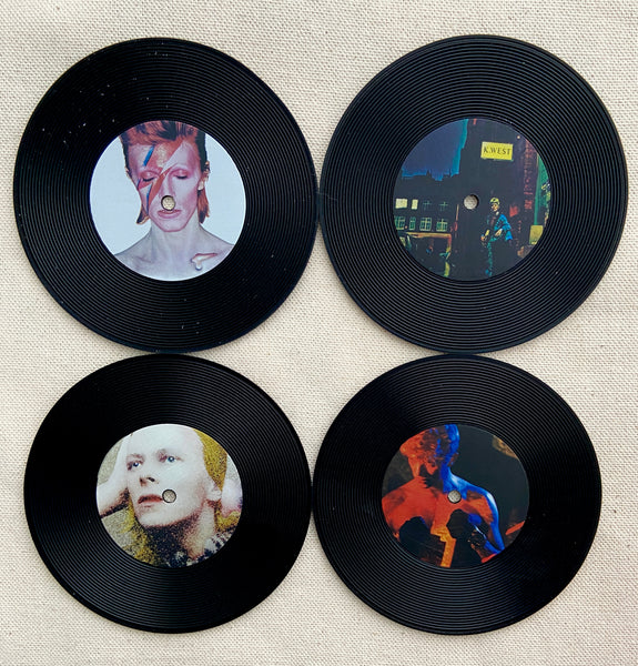 Bowie Record Coasters