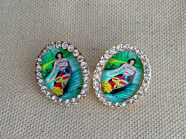 La Chalupa Loteria Post Earrings