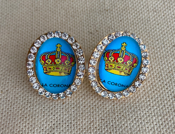 La Corona Loteria Post Earrings