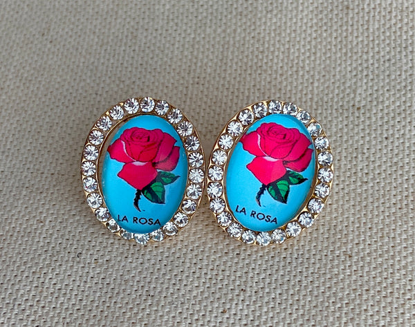 La Rosa Loteria Post Earrings