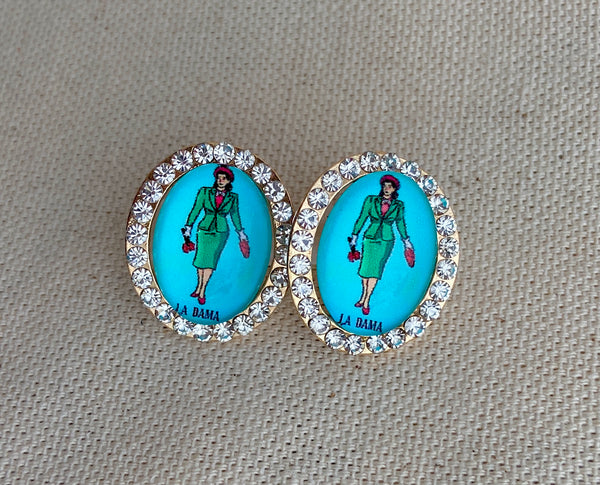 La Dama Loteria Post Earrings