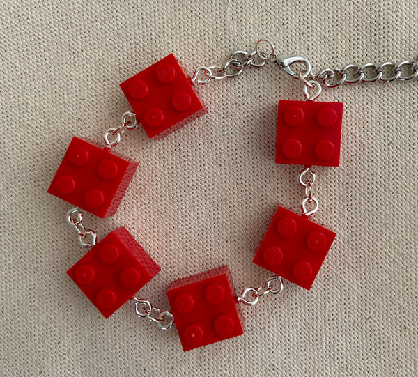Red Brick Lego Bracelet