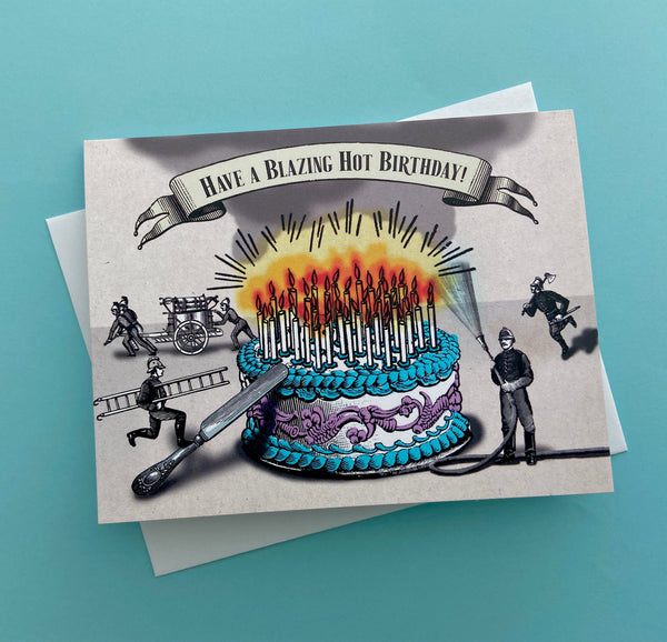 Blazing Hot Birthday Card