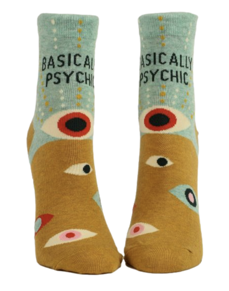 basically psychic eye pattern ankle socks