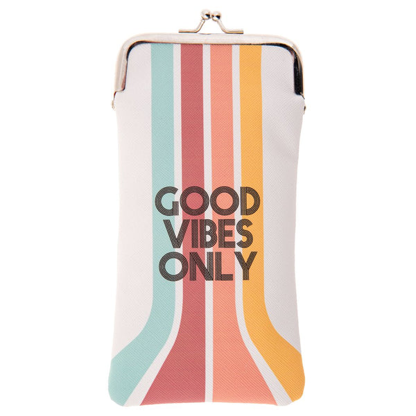 Good Vibes Only Sunglasses Case