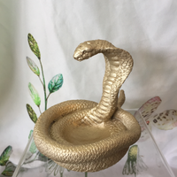 golden cobra trinket dish
