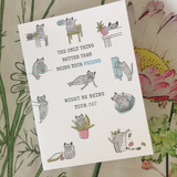 the only thing better than being your friend might be being your cat birthday card