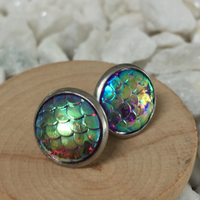 iridescent mermaid earrings