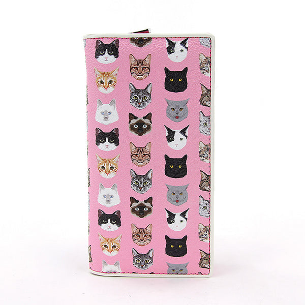 Pink Cat Faces Wallet