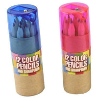 12 Colored Pencils and Sharpener