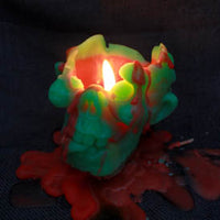 Waxing Dead Zombie Head Candle