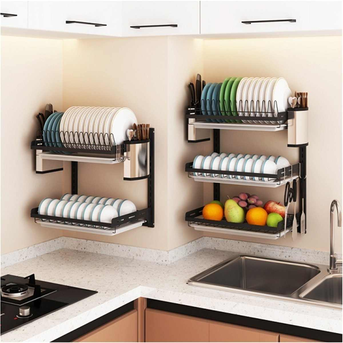 Multi-Tier Stainless Steel Storage Rack