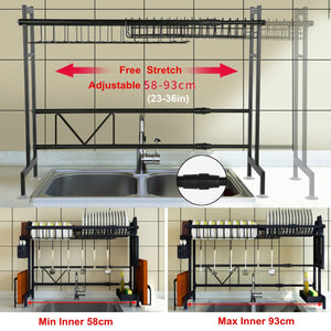 Multi-use Stainless Steel Dishes Rack