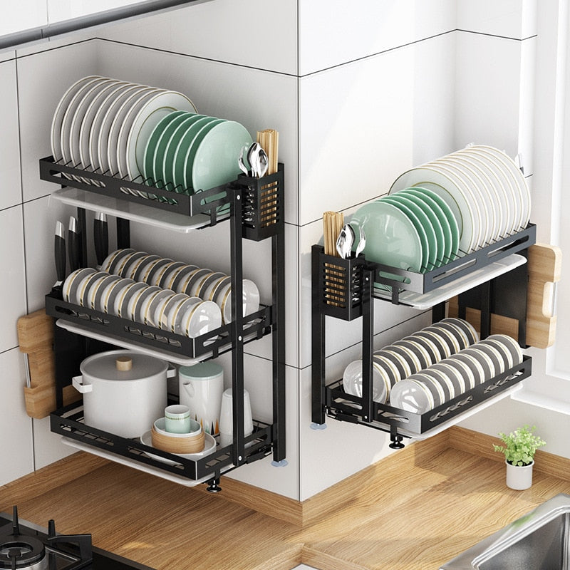 Stainless Steel  2/3 Layer Dish Drying Rack