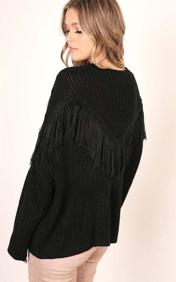 Adele Fringe Detail Sweater