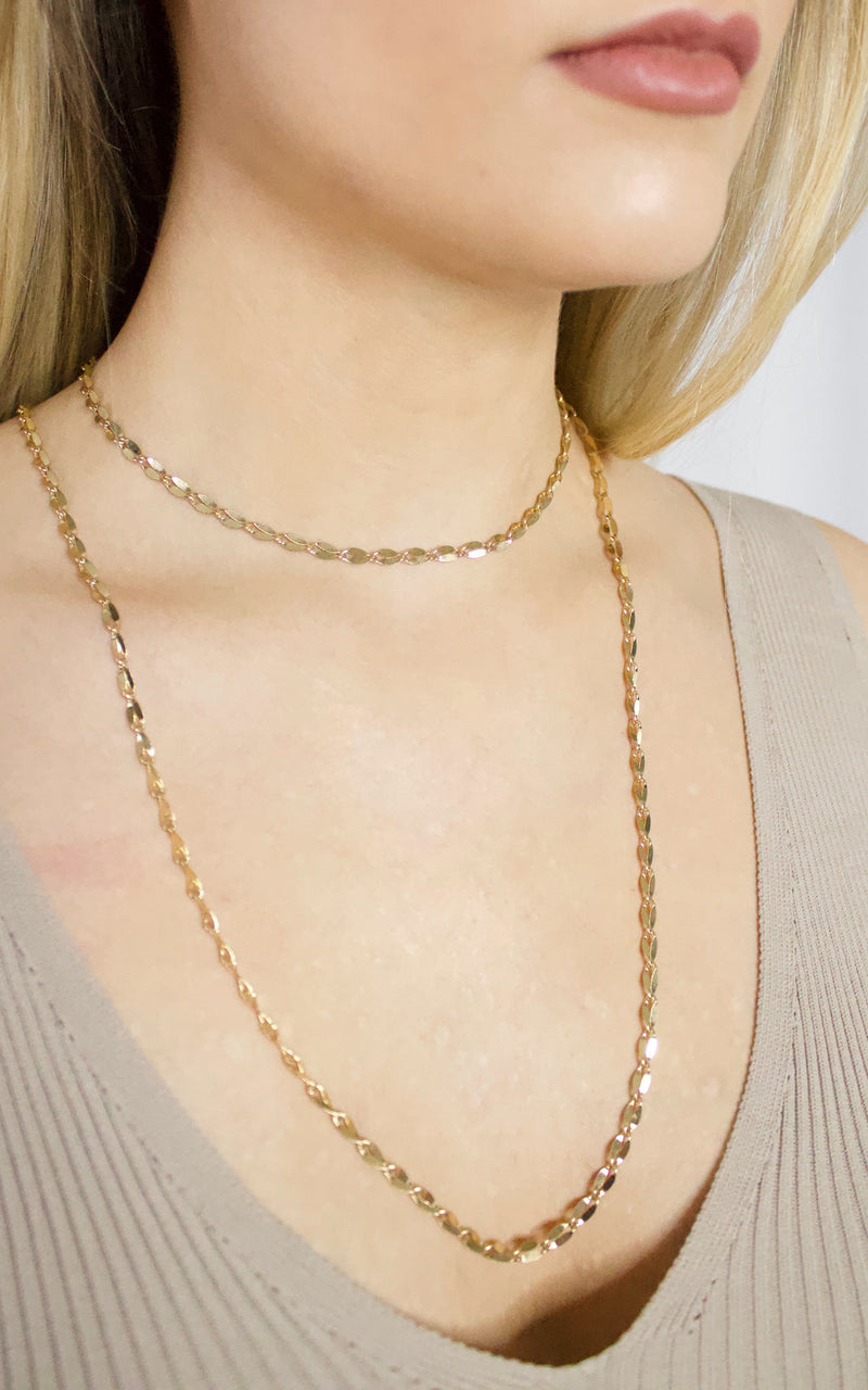 Two Chains Layered Necklace