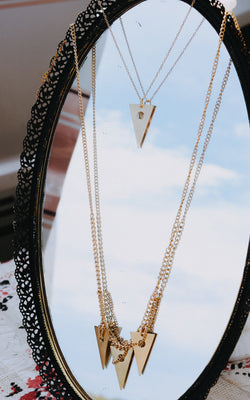Bermuda Triangle Layered Necklace in Gold