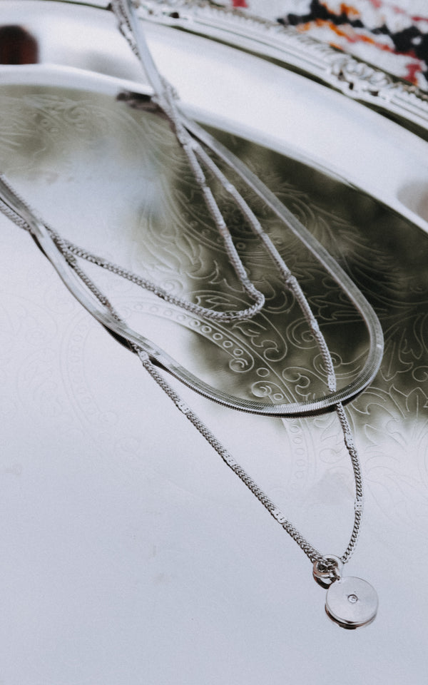 Coastal Moment Layered Necklace in Silver