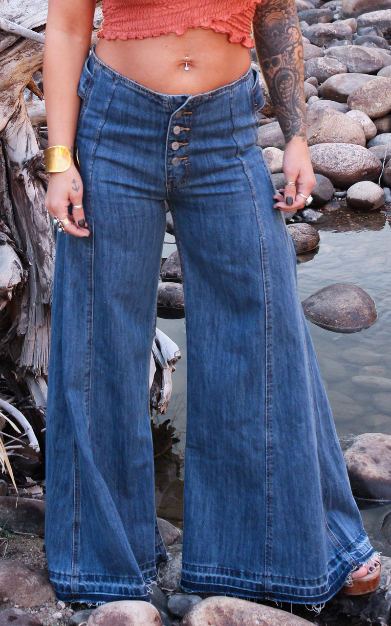 By The Ocean Flare Jeans