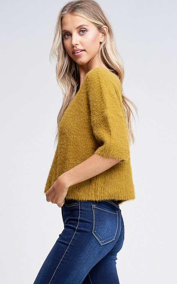 Joel Sweater Top in Khaki