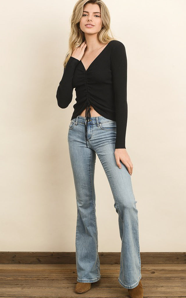 Riley Drawstring Knit Top