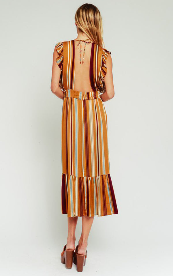 Gemma Striped Midi Dress
