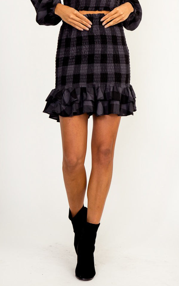 Snyder Plaid Skirt