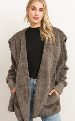 Lane Fur Open Jacket
