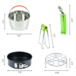 10pcs/set 7 Inch Fryer Baking Basket Pizza Plate Grill Pot Mat