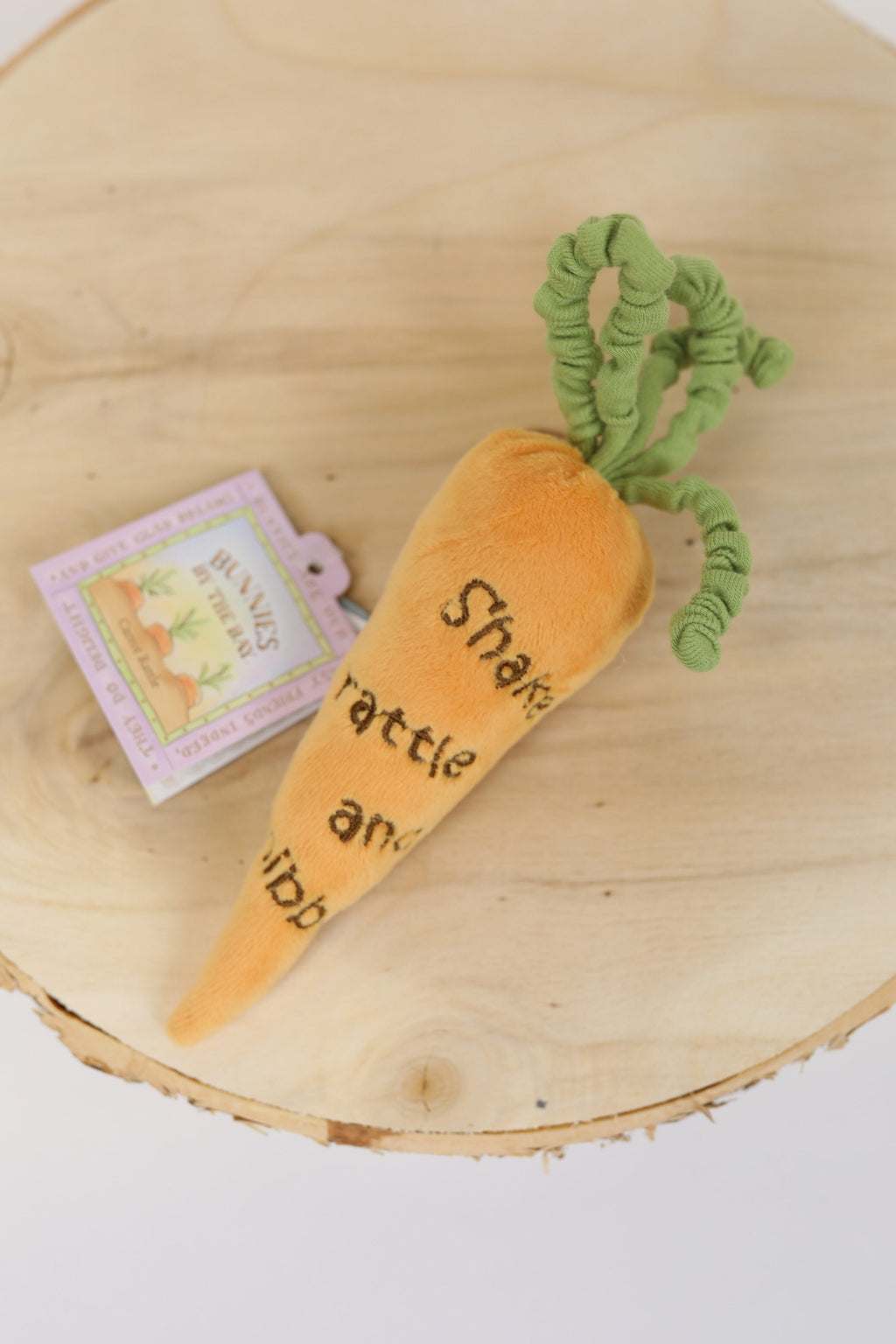 Embroidered Carrot Rattle