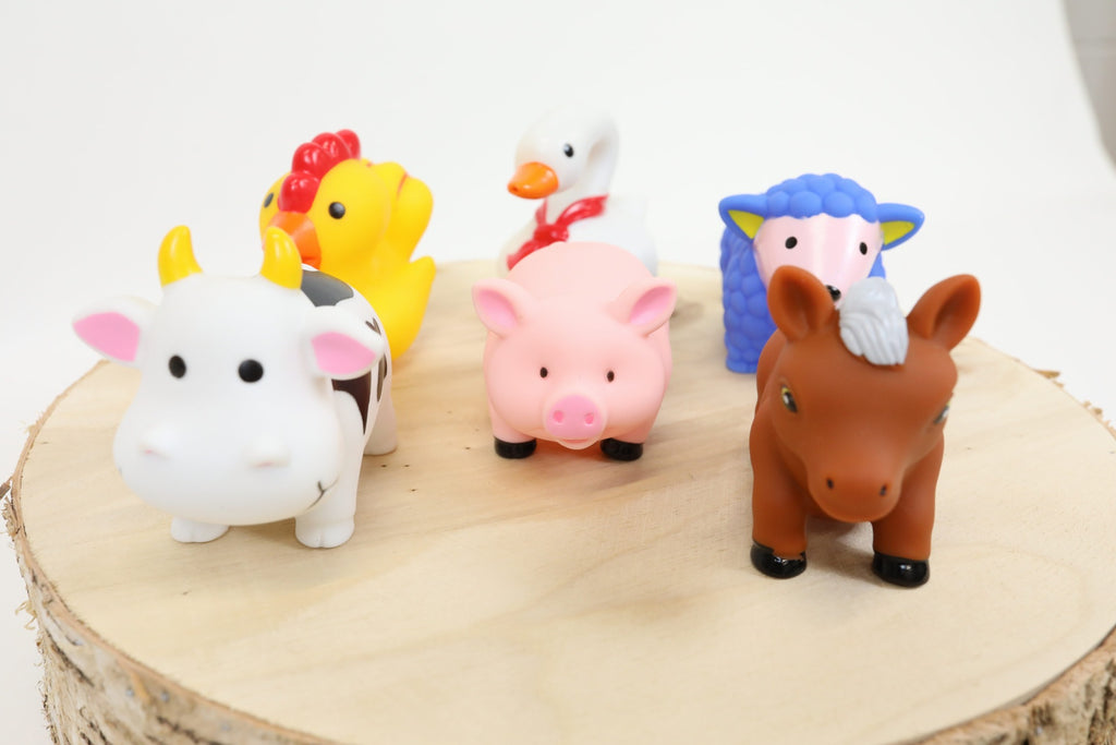 Farm Animal Friends Bath Toy Set