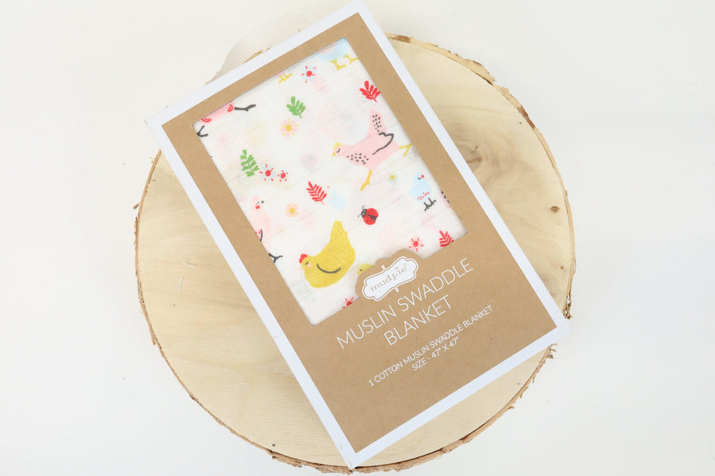 Muslin Swaddle Blanket - Chicken Print