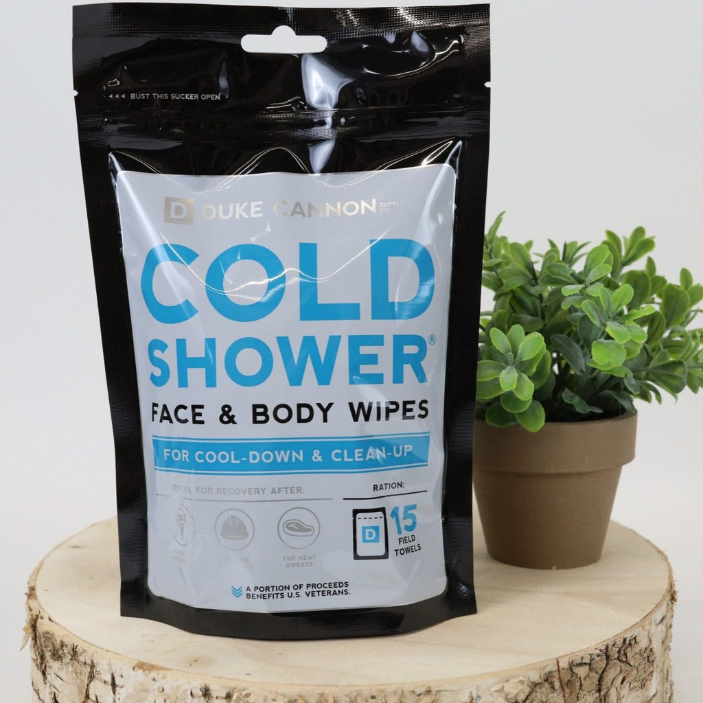 Duke Cannon Cold Shower Wipes - 15 Towels