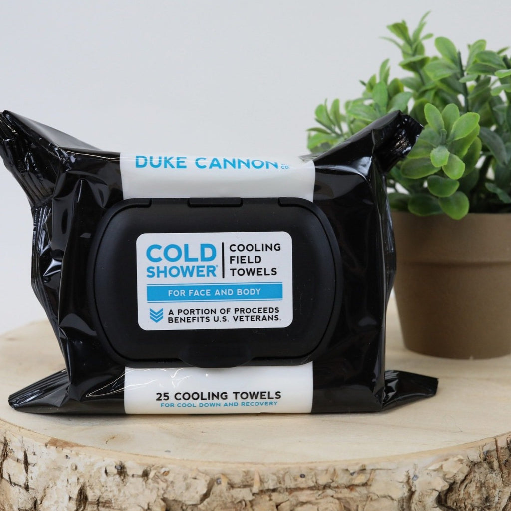 Duke Cannon Cold Shower Wipes - 25 Towels