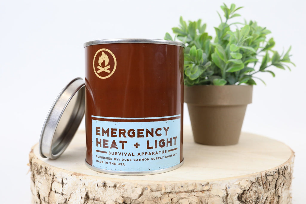 Emergency Heat and Light Candles- Leaf and Leather