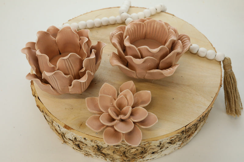 Ceramic Flower Votive