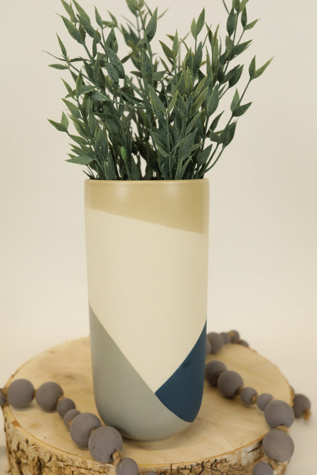 Tri-Color Vase - Blue