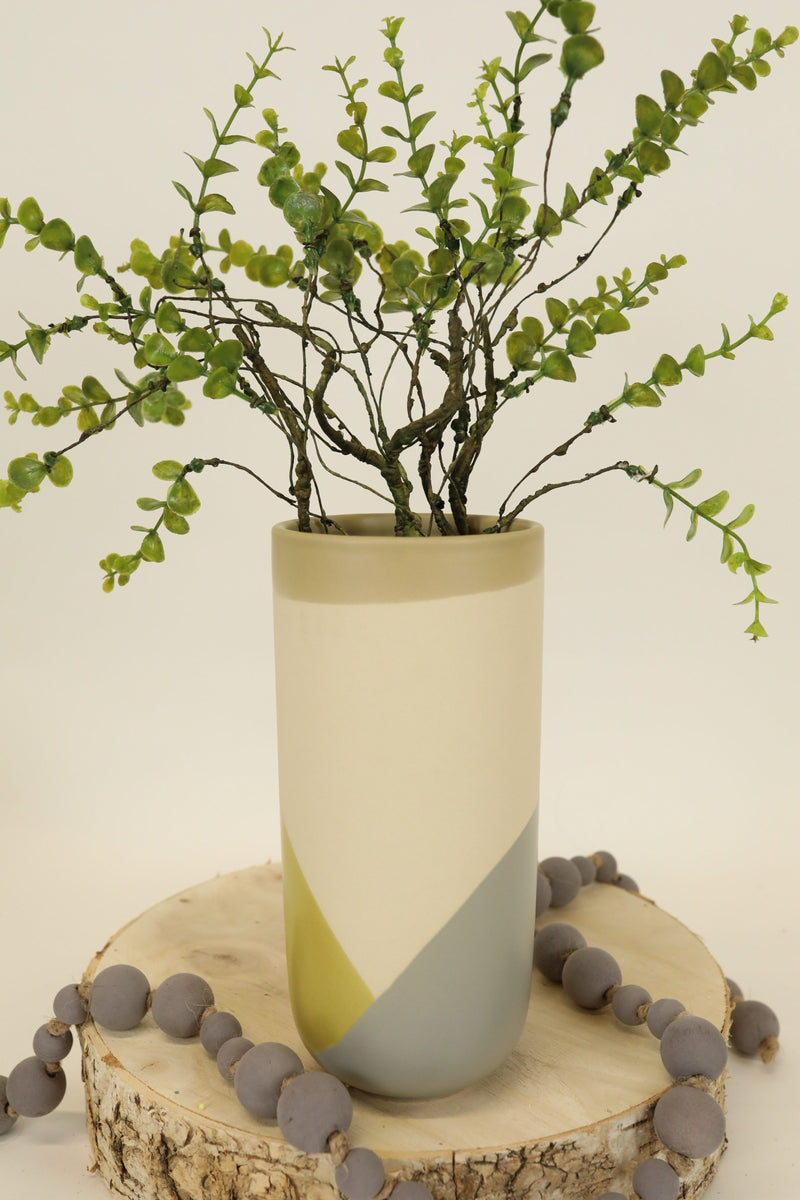 Tri-Color Vase - Green