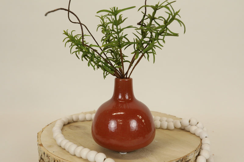 Saffron Stoneware Vase - Set of 2