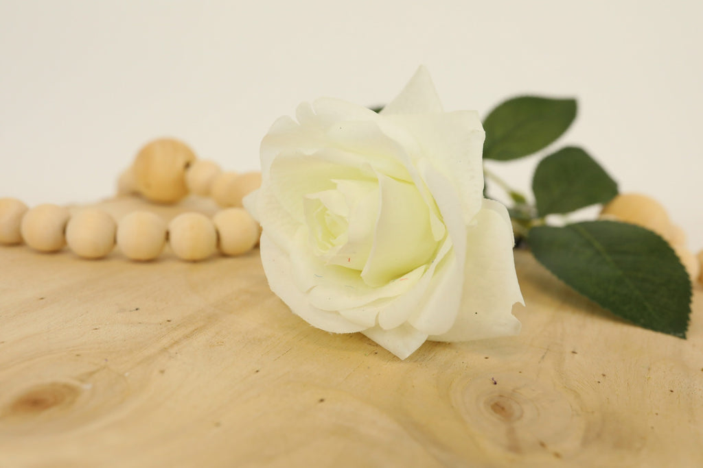 White Rose Stem - 16""